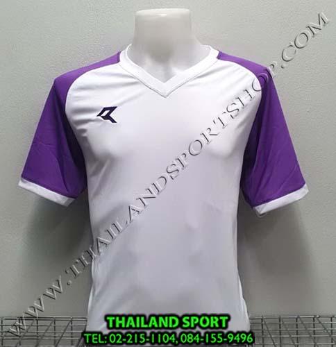 เสื้อกีฬา เรียล REAL รุ่น RAX-010 (สีขาว/ม่วง WV) ตัดต่อ
