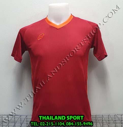 เสื้อ อีโก้ EGO SPORT รุ่น EG-5118 (สีแดง R) พิมพ์ลาย