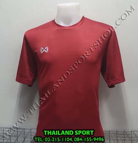 เสื้อกีฬา วอริค warrix รหัสwa1568 (สีแดง rr)