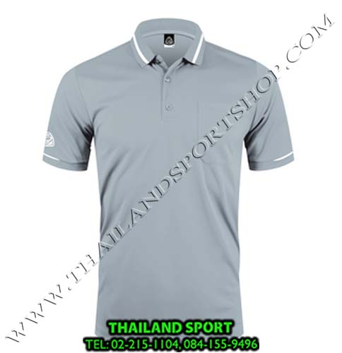 เสื้อ POLO SHIRT อีโก้ รุ่น EG 6151 (สีเทาเปียกปูน) MAN