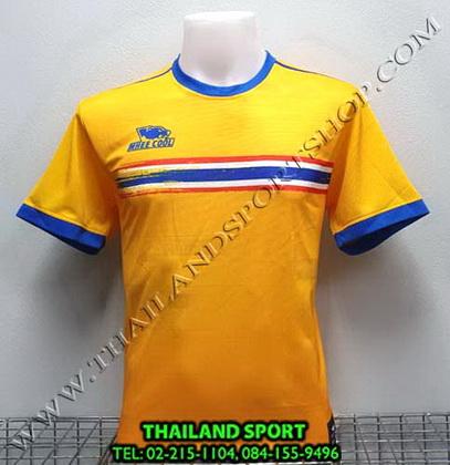 เสื้อกีฬา หมี คูล MHEE COOL รุ่น MO2 คอกลม พิมพ์ลายธงชาติ (สีเหลือง)