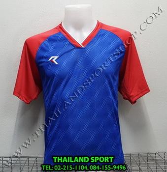 เสื้อกีฬา เรียล REAL รุ่น RAX-012 (สีน้ำเงิน BR) พิมพ์ลาย