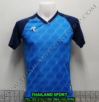 เสื้อกีฬา เรียล REAL รุ่น RAX-012 (สีฟ้า LD) พิมพ์ลาย