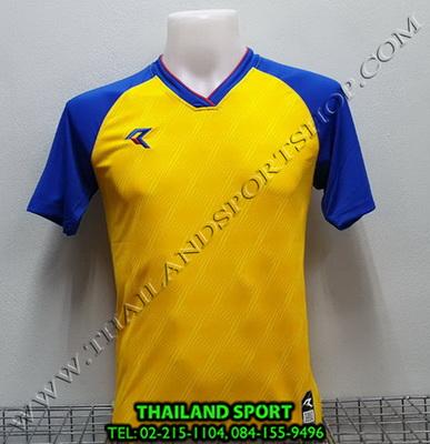 เสื้อกีฬา เรียล REAL รุ่น RAX-012 (สีเหลือง YB) พิมพ์ลาย