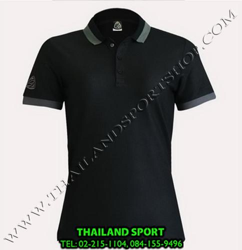 เสื้อ POLO SHIRT อีโก้ EGO SPORT รุ่น EG 6148 (สีดำ) WOMEN
