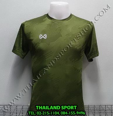 เสื้อกีฬา วอริค WARRIX รหัส WA 1567 (สีเขียว GG) ผ้าทอลาย Camo