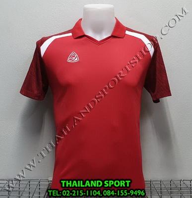 เสื้อกีฬา อีโก้ EGO SPORT รหัส EG 5124 (สีแดง) คอปก