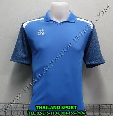 เสื้อกีฬา อีโก้ EGO SPORT รหัส EG 5124 (สีฟ้าเข้ม) คอปก