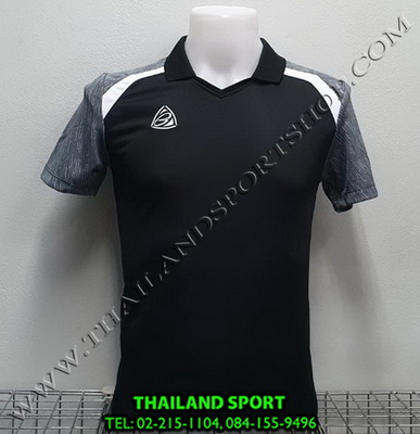 เสื้อกีฬา อีโก้ EGO SPORT รหัส EG 5124 (สีดำ) คอปก