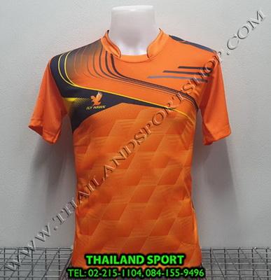 เสื้อกีฬา FLY HAWK รุ่น A 921 (สีส้ม O) พิมพ์ลาย