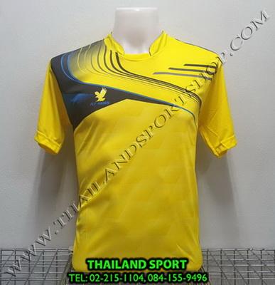 เสื้อกีฬา FLY HAWK รุ่น A 921 (สีเหลือง YG) พิมพ์ลาย
