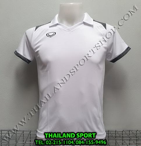 เสื้อกีฬา แกรนด์ สปอร์ต Grand Sport รุ่น 011-474 (สีขาว) คอปก