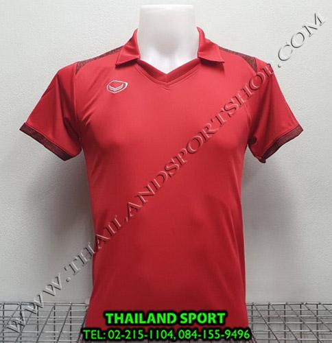 เสื้อกีฬา แกรนด์ สปอร์ต Grand Sport รุ่น 011-474 (สีแดง) คอปก