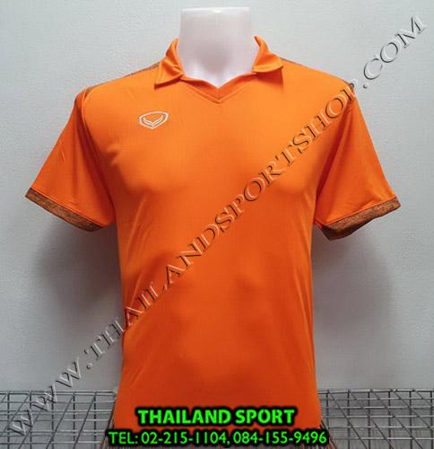เสื้อกีฬา แกรนด์ สปอร์ต Grand Sport รุ่น 011-474 (สีส้ม) คอปก