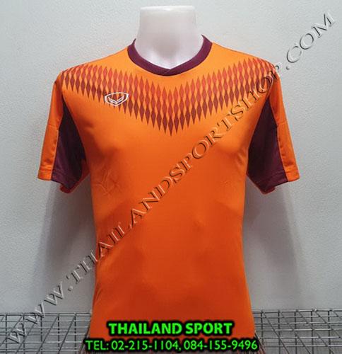 เสื้อกีฬา แกรนด์ สปอร์ต Grand Sport รุ่น 011-476 (สีส้ม)