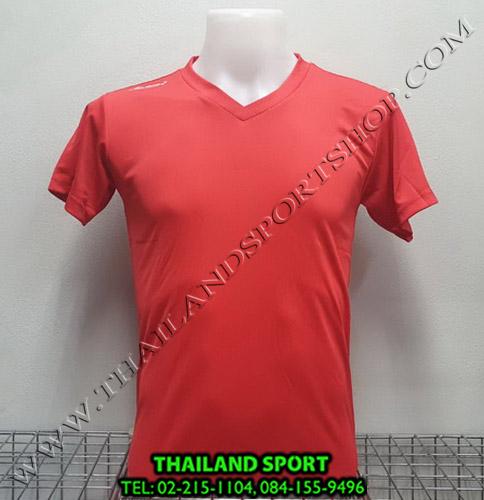 เสื้อกีฬาสี สีล้วน MATADOR MD-101 (สีแดง)