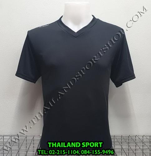 เสื้อกีฬาสี สีล้วน matador md-101 (สีดำ)