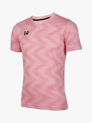 เสื้อกีฬา วอริค warrix รหัส wa-fba572 (สีชมพู pp) ผ้าทอลาย