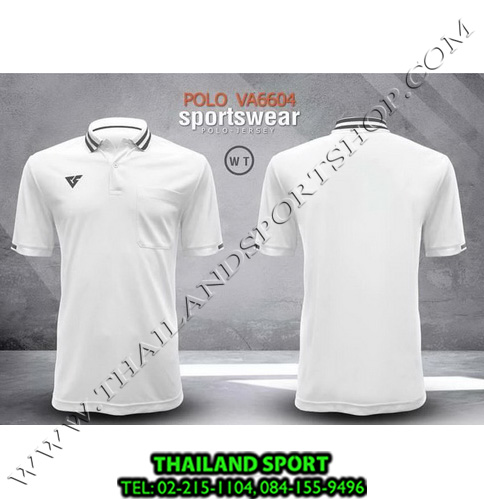 เสื้อโปโล กีฬา VERSUS รุ่น VA-6604 (สีขาว WT)