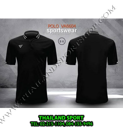 เสื้อโปโล กีฬา VERSUS รุ่น VA-6604 (สีดำ BK)