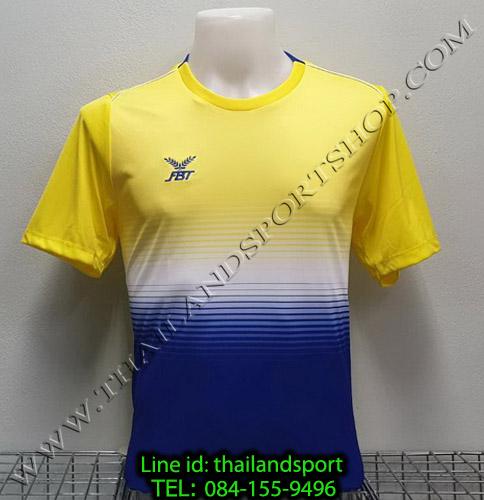 เสื้อกีฬา เอฟ บี ที fbt รุ่น 12-260 (สีเหลือง) ผ้าพิมพ์ลาย