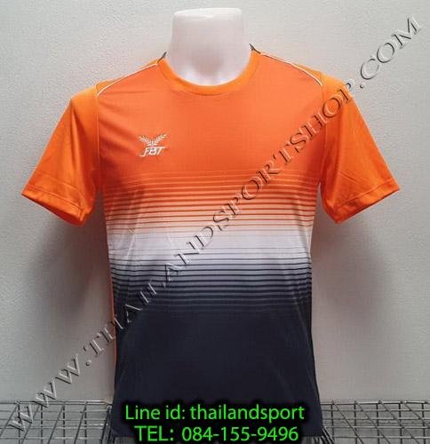 เสื้อกีฬา เอฟ บี ที  fbt รุ่น 12-260 (สีส้ม) ผ้าพิมพ์ลาย