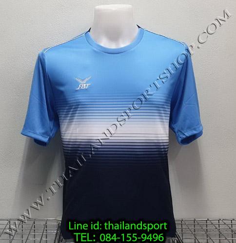 เสื้อกีฬา เอฟ บี ที  fbt รุ่น 12-260 (สีฟ้า) ผ้าพิมพ์ลาย