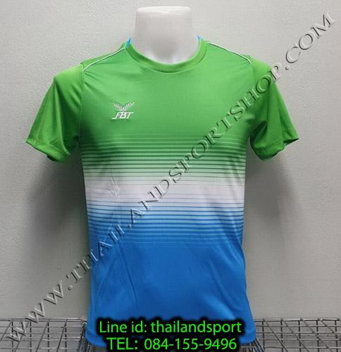 เสื้อกีฬา เอฟ บี ที fbt รุ่น 12-260 (สีเขียว) ผ้าพิมพ์ลาย