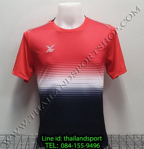 เสื้อกีฬา เอฟ บี ที fbt รุ่น 12-260 (สีแดง) ผ้าพิมพ์ลาย