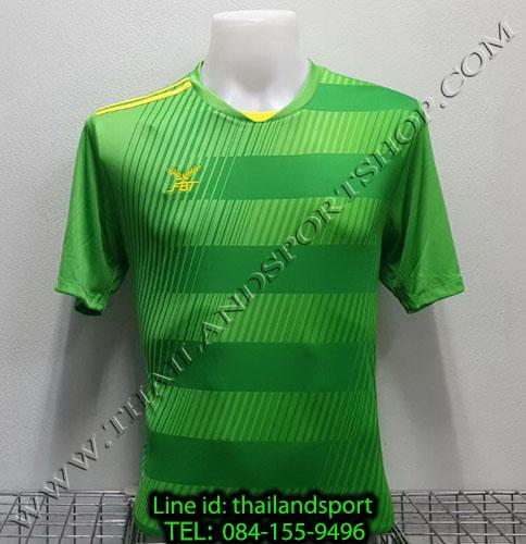 เสื้อกีฬา เอฟ บี ที  fbt รุ่น 12-267 (สีเขียว) ผ้าพิมพ์ลาย