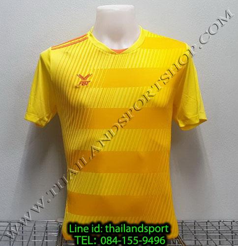 เสื้อกีฬา เอฟ บี ที  fbt รุ่น 12-267 (สีเหลือง) ผ้าพิมพ์ลาย