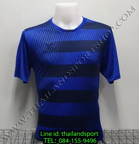 เสื้อกีฬา เอฟ บี ที  fbt รุ่น 12-267 (สีน้ำเงิน) ผ้าพิมพ์ลาย