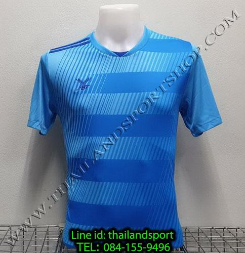 เสื้อกีฬา เอฟ บี ที  fbt รุ่น 12-267 (สีฟ้า) ผ้าพิมพ์ลาย