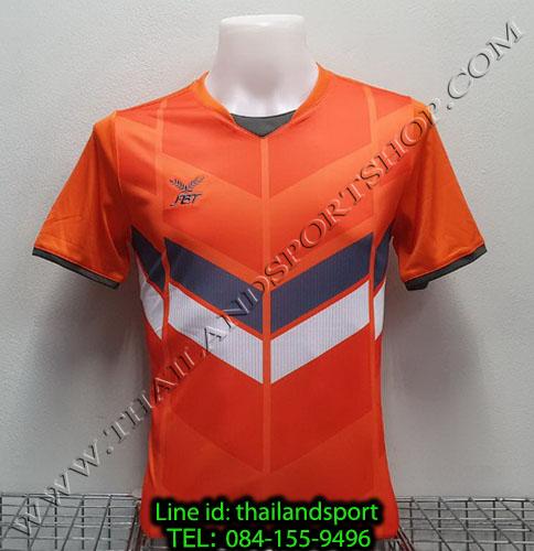 เสื้อกีฬา เอฟ บี ที  fbt รุ่น 12-261 (สีส้ม) ผ้าพิมพ์ลาย