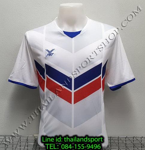 เสื้อกีฬา เอฟ บี ที  fbt รุ่น 12-261 (สีขาว) ผ้าพิมพ์ลาย