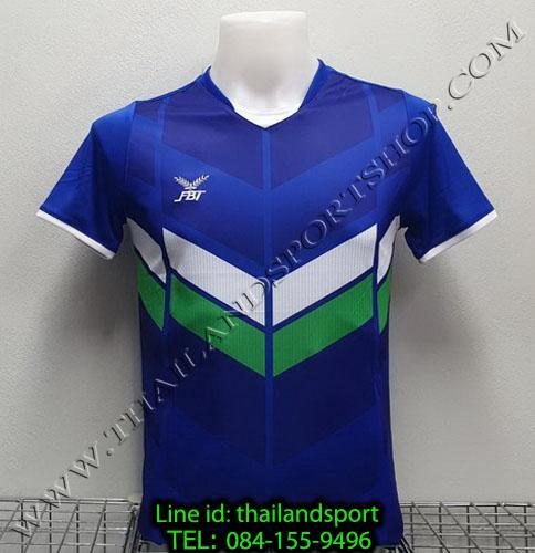 เสื้อกีฬา เอฟ บี ที  fbt รุ่น 12-261 (สีน้ำเงิน) ผ้าพิมพ์ลาย
