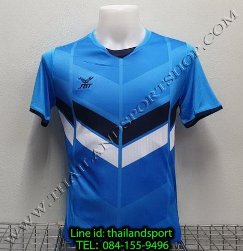 เสื้อกีฬา เอฟ บี ที  fbt รุ่น 12-261 (สีฟ้า) ผ้าพิมพ์ลาย