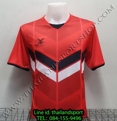 เสื้อกีฬา เอฟ บี ที  fbt รุ่น 12-261 (สีแดง) ผ้าพิมพ์ลาย