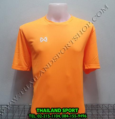เสื้อกีฬา วอริค warrix รหัส wa-fba571  (สีส้ม oo)