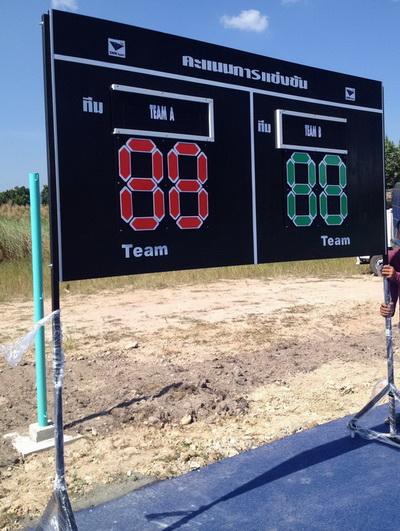 ป้ายคะแนน รุ่น มาตรฐานการกีฬา (1.22 m. x 2.44 m.)  k+n
