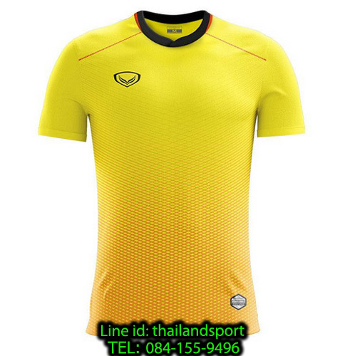 เสื้อกีฬา แกรนด์ สปอร์ต grand sport รุ่น 011-482 (สีเหลือง)