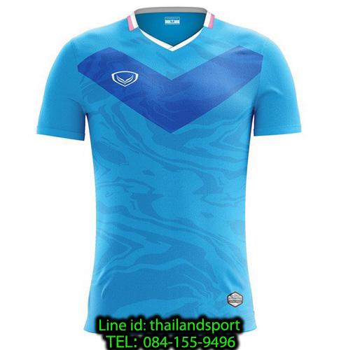 เสื้อกีฬา แกรนด์ สปอร์ต grand sport รุ่น 011-483 (สีฟ้า)