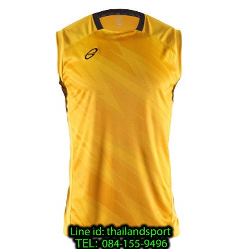 เสื้อแขนกุด อีโก้ สปอร์ต ego sport รุ่น eg-5125 (สีเหลืองทอง) พิมพ์ลาย