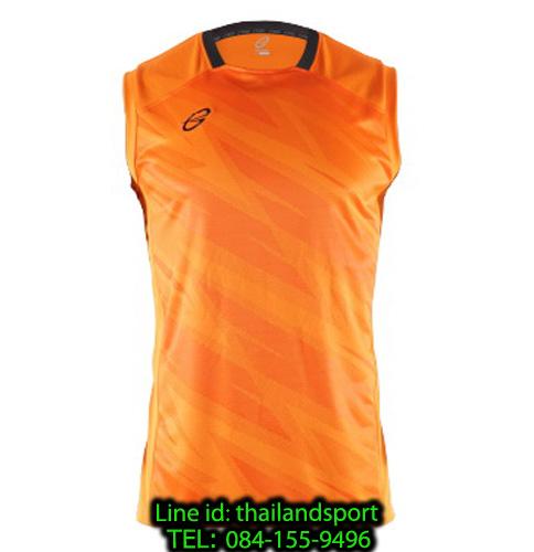 เสื้อแขนกุด อีโก้ สปอร์ต ego sport รุ่น eg-5125 (สีส้ม) พิมพ์ลาย