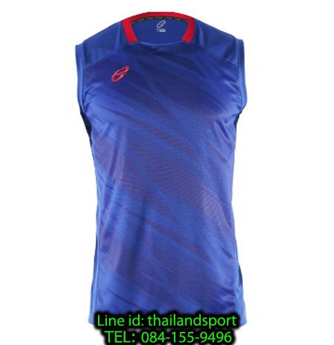 เสื้อแขนกุด อีโก้ สปอร์ต ego sport รุ่น eg-5125 (สีน้ำเงิน) พิมพ์ลาย