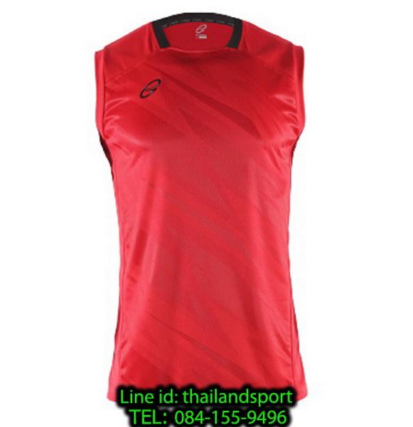 เสื้อแขนกุด อีโก้ สปอร์ต ego sport รุ่น eg-5125 (สีแดง) พิมพ์ลาย