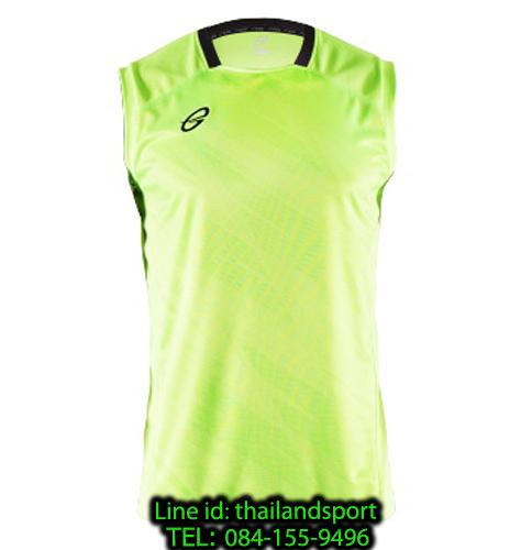 เสื้อแขนกุด อีโก้ สปอร์ต ego sport รุ่น eg-5125 (สีเขียวสะท้อน) พิมพ์ลาย