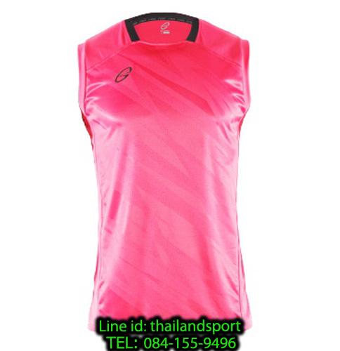 เสื้อแขนกุด อีโก้ สปอร์ต ego sport รุ่น eg-5125 (สีชมพูสะท้อน) พิมพ์ลาย