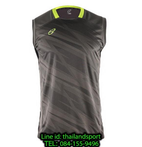 เสื้อแขนกุด อีโก้ สปอร์ต ego sport รุ่น eg-5125 (สีเทาเปียกปูน) พิมพ์ลาย