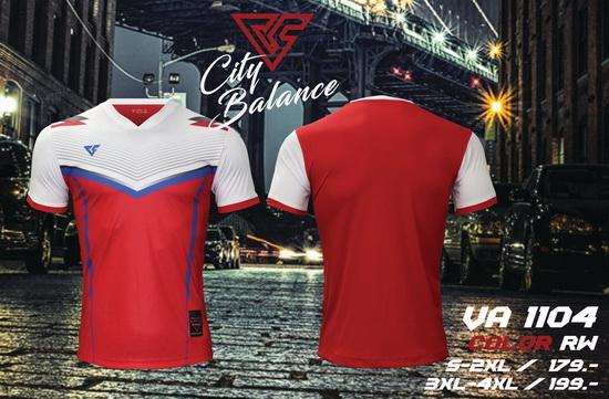 เสื้อกีฬา เวอร์ซูส versus รุ่น va-1104 (สีแดง) พิมพ์ลาย